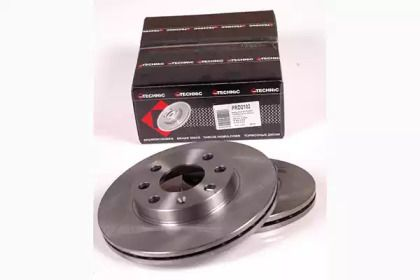 Вентилируемый тормозной диск 'PROTECHNIC PRD2102'.