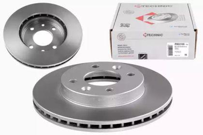Вентилируемый тормозной диск 'PROTECHNIC PRD2105'.