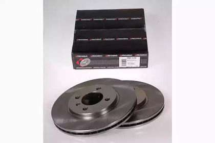Вентилируемый тормозной диск на BMW Z1 'PROTECHNIC PRD2170'.