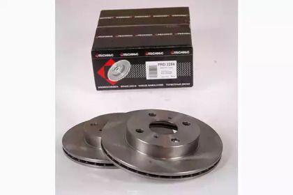 Вентилируемый тормозной диск на TOYOTA YARIS 'PROTECHNIC PRD2284'.