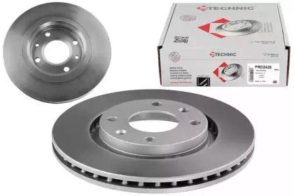 Вентилируемый тормозной диск на CITROEN DS3 'PROTECHNIC PRD2420'.