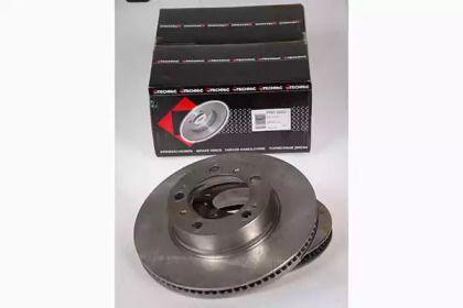Вентилируемый тормозной диск на PORSCHE BOXSTER 'PROTECHNIC PRD2663'.