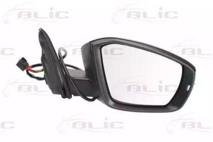 Праве бокове дзеркало на Шкода Октавія А7 'BLIC 5402-43-2002352P'.
