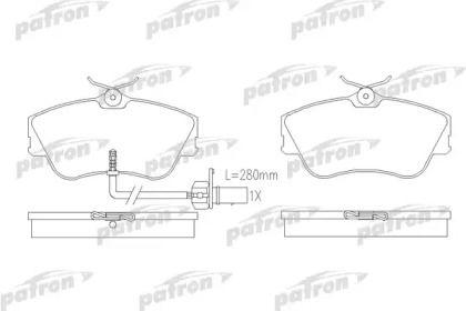 Тормозные колодки 'PATRON PBP1519'.