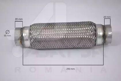 Гофрована труба, вихлопна система 'ASAM 60102'.