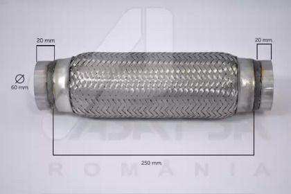 Гофрована труба, вихлопна система 'ASAM 60106'.