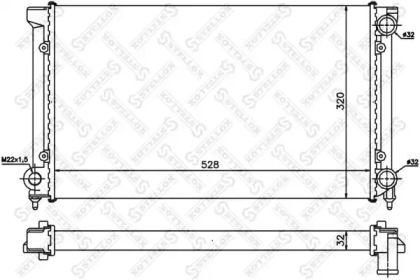 Радіатор охолодження двигуна STELLOX 10-25003-SX.