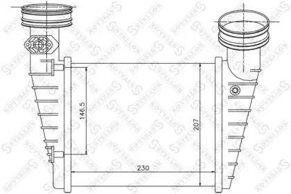 Інтеркулер 'STELLOX 10-40157-SX'.