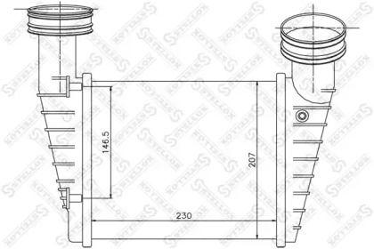 Інтеркулер 'STELLOX 10-40158-SX'.