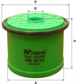 Топливный фильтр 'MFILTER DE 3111'.