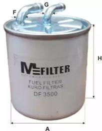 Паливний фільтр на Мерседес W212 MFILTER DF 3500.