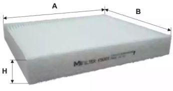 Салонный фильтр на Сеат Толедо 'MFILTER K 9069'.