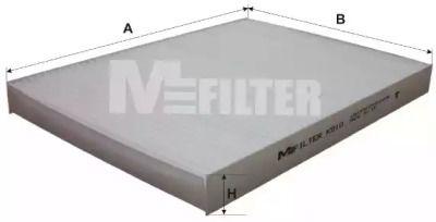 Салонный фильтр на VOLKSWAGEN GOLF 'MFILTER K 910'.