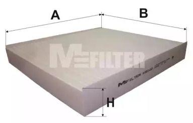 Салонний фільтр на Мітсубісі АСХ 'MFILTER K 9100'.
