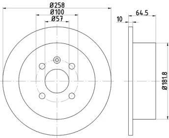 Тормозной диск на CHEVROLET OPTRA 'HELLA PAGID 8DD 355 110-691'.