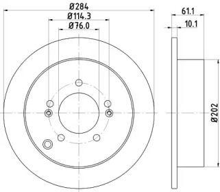 Тормозной диск 'HELLA PAGID 8DD 355 111-421'.