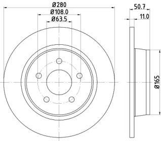 Тормозной диск на FORD GRAND C-MAX 'HELLA PAGID 8DD 355 118-211'.