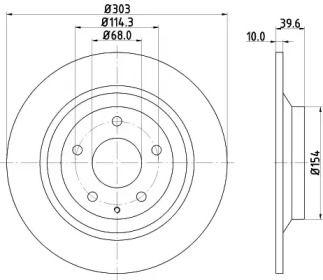 Гальмівний диск на Мазда СХ5 HELLA PAGID 8DD 355 118-541.