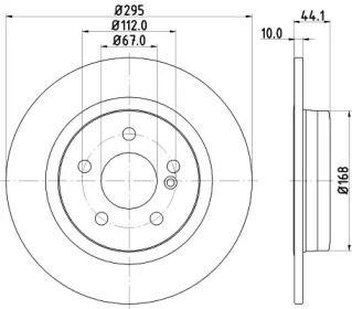 Гальмівний диск на Мерседес Гла  HELLA PAGID 8DD 355 119-421.