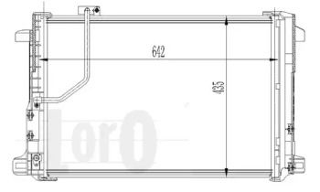 Радіатор кондиціонера на Mercedes-Benz W212 LORO 033-016-0013.