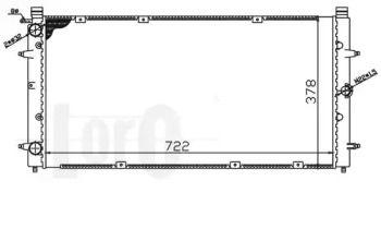 Радіатор охолодження двигуна 'LORO 053-017-0068'.