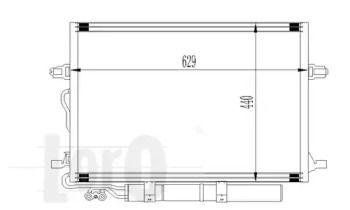 Радіатор кондиціонера на Мерседес W211 LORO 054-016-0007.