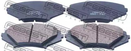 Переднї гальмівні колодки на MAZDA RX-8 'FEBEST 0501-FEF'.