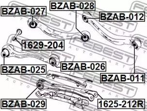 Сайлентблок важеля на Mercedes-Benz GLK  FEBEST BZAB-028.