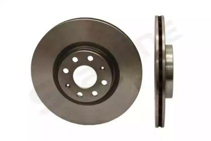 Вентилируемый передний тормозной диск на FIAT GRANDE PUNTO 'STARLINE PB 20426'.