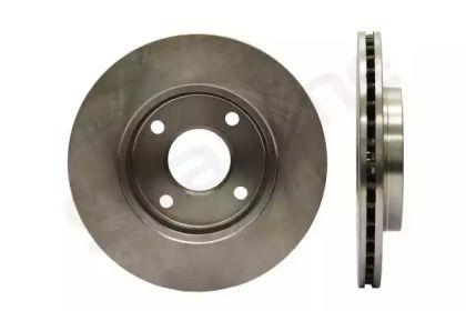 Вентилируемый передний тормозной диск на MAZDA 121 'STARLINE PB 2456'.