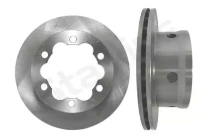 Вентилируемый передний тормозной диск на MERCEDES-BENZ VARIO 'STARLINE PB 2716'.