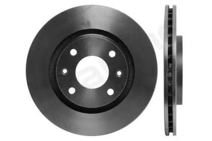Вентилируемый передний тормозной диск на Пежо 2008 'STARLINE PB 2770'.