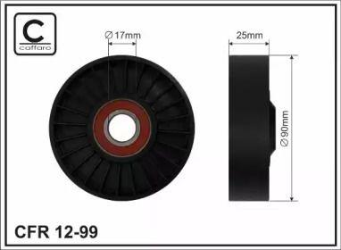 Натяжний ролик ременя генератора на OPEL OMEGA 'CAFFARO 12-99'.