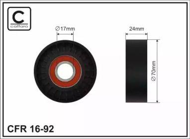 Натяжной ролик ремня генератора на SEAT TOLEDO 'CAFFARO 16-92'.