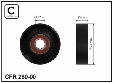 Натяжний ролик ременя генератора на MERCEDES-BENZ A-CLASS  CAFFARO 260-00.