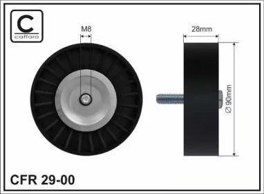 Ролик ременя генератора на Мерседес W212 CAFFARO 29-00.