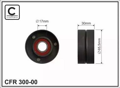 Натяжний ролик ременя генератора на Мерседес W212 CAFFARO 300-00.