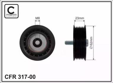 Ролик ременя генератора на Мерседес W212 CAFFARO 317-00.