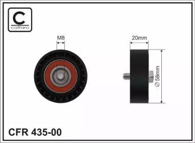 Натяжной ролик ремня генератора на VOLKSWAGEN JETTA 'CAFFARO 435-00'.