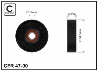 Натяжний ролик ременя генератора на Мерседес W211 CAFFARO 47-00.