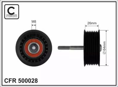 Ролик ременя генератора на Mercedes-Benz G-Class  CAFFARO 500028.