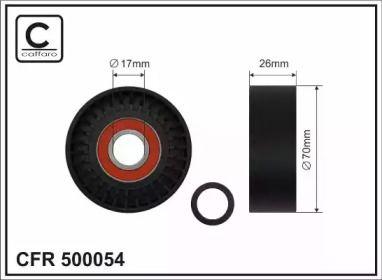 Натяжний ролик ременя генератора 'CAFFARO 500054'.