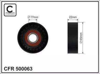Натяжний ролик ременя генератора на MERCEDES-BENZ A-CLASS  CAFFARO 500063.