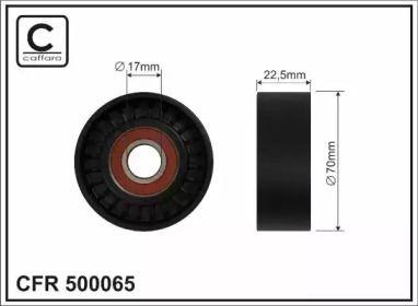 Натяжний ролик ременя генератора на Мерседес А Клас  CAFFARO 500065.