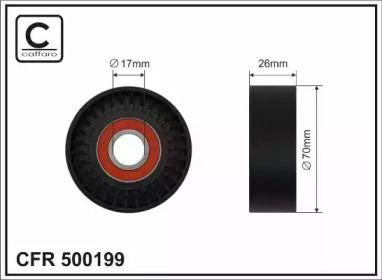 Натяжной ролик ремня генератора на SEAT ALTEA CAFFARO 500199.