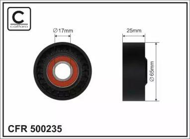 Натяжний ролик ременя генератора на Mercedes-Benz W212 CAFFARO 500235.