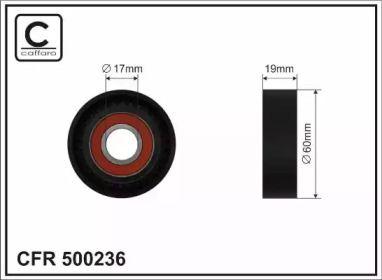 Натяжний ролик ременя генератора 'CAFFARO 500236'.
