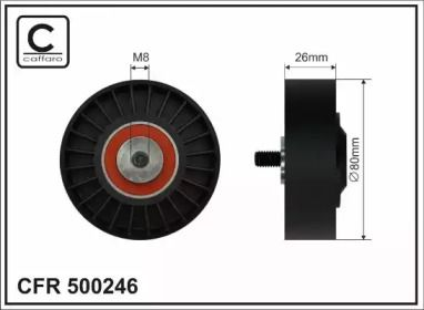 Натяжной ролик ремня генератора 'CAFFARO 500246'.