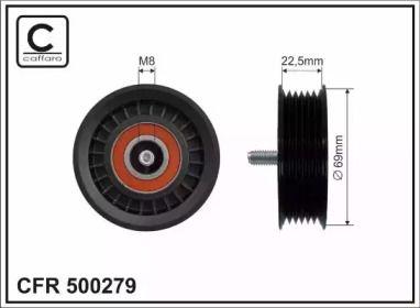 Ролик ременя генератора на Mercedes-Benz W212 CAFFARO 500279.