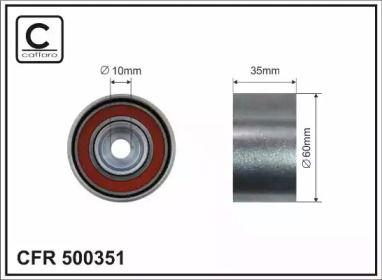 Обвідний ролик ГРМ CAFFARO 500351.